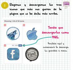 Descargar iconos súper originales e instalar botones de redes sociales en Blogger