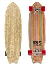 Iris Skateboards- reclaimed skateboards reshaped into retro cruisers at Makers Market. $250 Made in the USA.
