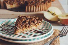 vegan salted caramel apple crumble tart   RECIPE on hotforfoodblog.com