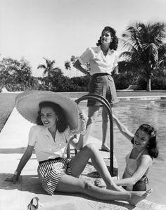 Socialite Aline Johnson de Menocal and friends. Havana, Cuba, 1946