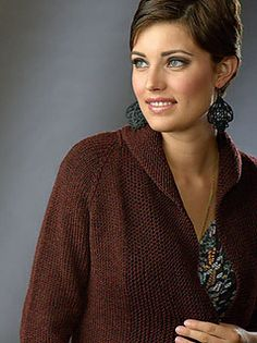 Wragby Cardigan. Available through Interweave. They have a terrible picture of this sweater there, but the Ravelry page (on click through) has better pictures and lots of reviews from other knitters (click on the projects tab to see other yarn choices and variations to the pattern)