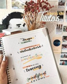 Bullet Journal Lettering Ideas, Bullet Journal Banner, Bullet Journal Notes, Bullet Journal Aesthetic, Bullet Journal Writing, Bullet Journal School, Journal Pages, Journals, School Organization Notes