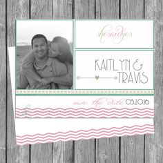 Save the Date Photo Card 5x7 PRINTABLE on Etsy, $6.75