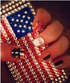 Olympic USA nails