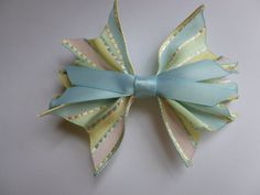 Easter and Spring bows by KrapflGirl on Etsy.