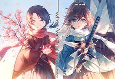 Tags: Fanart, INstockee, PNG Conversion, Fan Character, Touken Ranbu, Kashuu Kiyomitsu, Yamato no Kami Yasusada, Okita-gumi