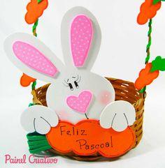 como fazer cesta pascoa coelhinho eva decorada (5)