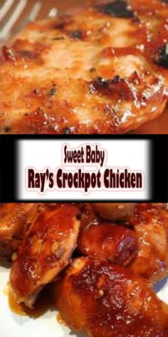 Sweet Baby Ray's Crockpot Chicken #crockpotbbqchicken