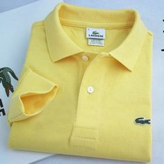 Lacoste Polo Long Sleeve Classic Shirt Yellow    #CheapLacoste #CheapLacosteLongSleeve #Polos #LacostePolos #LacostePoloShirts #StylishLacosteShirts #LacosteForCheap