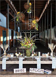 rustic wedding table   #wedding  #table #centerpieces