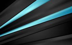 Hämta bilder blå linjer, 4k, mörk bakgrund, konst, abstrakt material