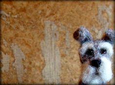 Needle Felted Schnauzer Dog  by Sendsunshine by sendsunshine, $39.00
