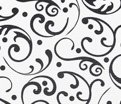 Free Black & White Pattern Twitter Background - Vintage Floral Pattern Theme Preview