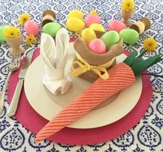Easter Napkin Folds by Table Decorate Celebrate