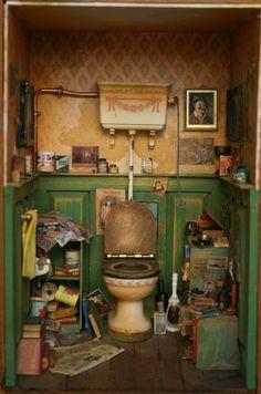 mini cluttered room