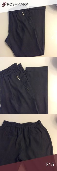 Zara Pants Elastic waist. Last picture shows similar style. Not actual pants. Gently worn. Zara Pants Ankle & Cropped