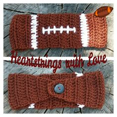 Crocheted Football Headband/Ear Warmer.    https://m.facebook.com/profile.php?id=636695216381969&ref=bookmarks