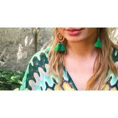 ramini, orecchini fatti a mano in rame battuto. verde green www.raminishop.com