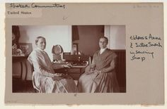 Social Revolution (?): United States. New York. Mt. Lebanon. Shaker Communities: Shaker Communities, United States: II. Eldress Anna and Sister Sarah in sewing shop. | Harvard Art Museums
