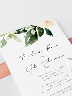 This Wedding Invitation template is fully editable. You have the freedom to personalize every detail in the template to make it perfect for your wedding! Once you have placed your order, you'll receive a link to edit your template directly in your browser, using the web application