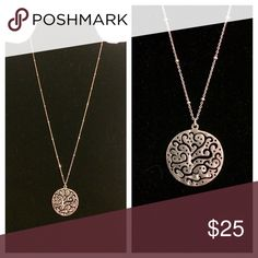 """Silpada Cut Above Necklace Free-form cut-outs on a .925 Sterling Silver disc. 18"""" length. Silpada Jewelry Necklaces"""