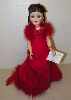 "MADAME ALEXANDER 21"" SCARLETT PORTRAIT DOLL RED DRESS W STAND HANG TAG NO BOX #DOLL"