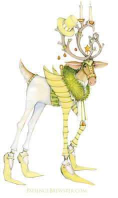 In his top hat and striped tails, Prancer is an endearing member of our Dash Away line by Patience Brewster.