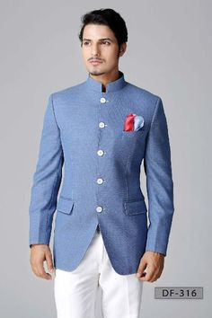 Suits for Weddings and Reception for Men Photos. Browse through thousands of Wedding Suits Photos for Inspiration and Ideas of Suits, Indo Western Suits, Bandhgala, Designer Suits, Three Piece Suits Indian Groom Wear, Indian Wear, Sherwani, Costume Africain, Modi Jacket, Western Suits, Western Style, Western Dresses, Nehru Jackets