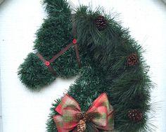 horse head wreath – Etsy