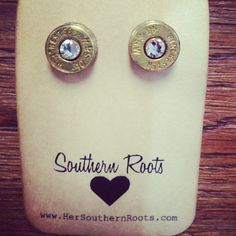 40M Bullet Earrings With Swarovski Crystal