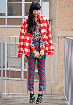 fun look- susie bubble Style Me, Cool Style, Fashion Articles, Fashion Blogs, Mixing Prints, Mixing Patterns, Textiles, London Fashion, Street Fashion