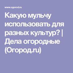 Какую мульчу использовать для разных культур? | Дела огородные (Огород.ru)