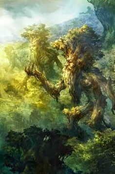 Ents of Fangorn, the hobbit, lotr Arte Do Hulk, Solas Dragon Age, Midle Earth, Legolas, Gandalf, Jrr Tolkien, Fantasy Landscape, Fantasy World, Fantasy Life