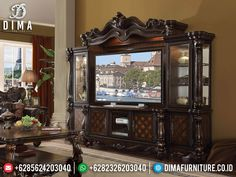 Acme Furniture, Classic Furniture, Bedroom Furniture Design, Tuscan Decorating, Versailles, Entertainment Center, Glass Door, Room Inspiration, Solid Wood