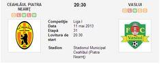 Ceahlaul – Vaslui avancronica si pronostic (11.05.2013) Boarding Pass, Travel, Viajes, Trips, Traveling, Tourism, Vacations