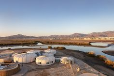 Situated on one of the most sensitive and biodiverse nature reserves in the Gulf, the Khor Kalba Turtle and Wildlife Sanctuary comprises a cluster of rounded building forms that creates a sanctuary for rehabilitating turtles and nurturing endangered birds, connecting with local initiatives and expertise.