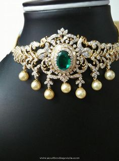 Gorgeous Diamond Bajuband/Choker to adorn your arm & neck from Ishwarya Diamonds