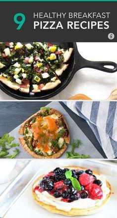 9 Ways to Eat Pizza for Breakfast  #healthy #breakfast #pizza
