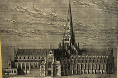 The old St Paul's cathedral, before the Great Fire of London.
