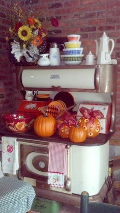 Fall vintage kitchen