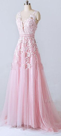 US$121.67-A-line V-neck Tulle and Lace Pink Prom Dress With Appliques and Open Back. https://www.newadoringdress.com/a-line-v-neck-tulle-and-lace-dress-with-appliques-and-low-v-back-p312282.html. Free Shipping! NewAdoringDress selected the best prom dresses, party dresses, cocktail dresses, formal dresses, maxi dresses, evening dresses and dresses for teens such as sweet 16, graduation and homecoming. #prom #dress