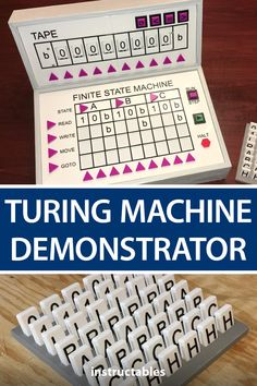 Build a Turing machine demonstrator from 3D printed parts. #Instructables #3Dprint #education #technology #Arduino Finite State Machine, Hall Effect, Geek Gadgets, Arduino, Python, Mathematics, Programming, 3d Printing, Software