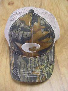 5de8eaeeca6 Brand new costa del mar mesh adjustable cap hat camo stone