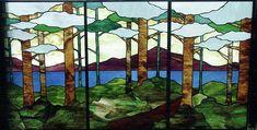 Phoenix Studio - Tree Tryptych Glass Art as a Fine Art Print  -  Jane Croteau  -  fineartamerica.com