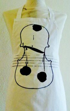 """Cotone intarsiato con motivo """"Violino"""""""