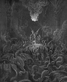 Satan and his demons turn into all sorts of reptiles as punishment from God for corrupting man through the serpent.