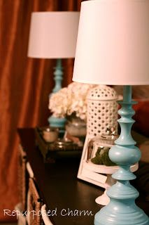 Repurposed Charm: Thrift Store Lamps Makeover