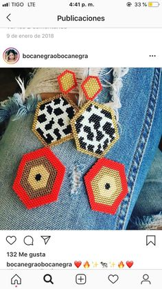 Bead Embroidery Jewelry, Beaded Embroidery, Diy Jewelry, Beaded Jewelry, Earring Tutorial, Brick Stitch, Bead Patterns, Beads, Crochet