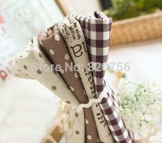 """Cheap patchwork quilt bedding, Buy Quality quilt art directly from China quilt package Suppliers:  Promotion! 4 Designs Cotton Fabric """"Coffee"""" Dot Square Newspaper Fat Quarter Bundle Tilda Quilting sc"""