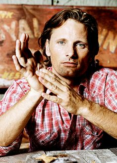 Viggo Mortensen....my vision of Heaven is Middle Earth, and he is the Archangel Michael. -G.H.